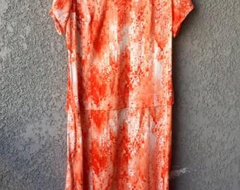 Orange Lady Laura maxi dress