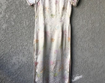 Multicolored asian style dress