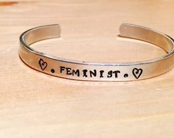 Feminist Statement Feminism Adjustable Cuff Bracelet