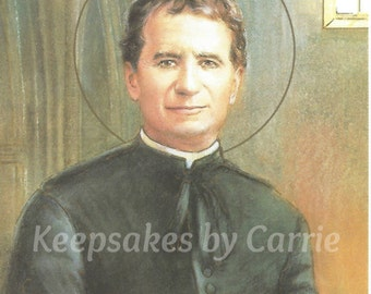 Saint John Bosco - Personalized - Laminated - Sheet of 8