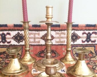 Brass Candlesticks Brass Candle Holders Brass Candlestick Holders Wedding Candle Holder Vintage Candle Centerpiece Candles Wedding Candles
