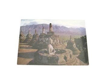 Buddha At Borobudur Postcard Paper Ephemera   Unused  Vintage Postcard  Buddha Postcard Unused Buddha Postcard