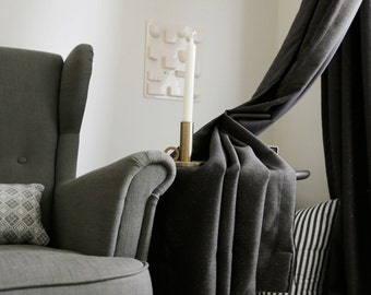 Charcoal Glitter Blackout Curtain