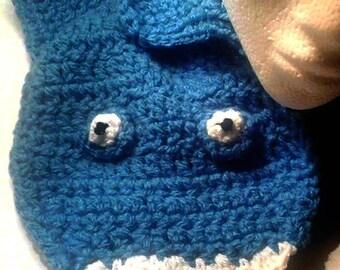 Crochet Shark scarf , Chunky scarf , Blue shark scarf , shark scarf , blue scarf ,  chunky winter scarf , animal scarf , Christmas gift ,