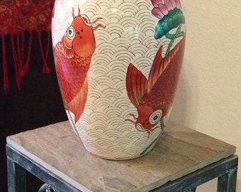 Koi fish vase etsy for Koi fish vase