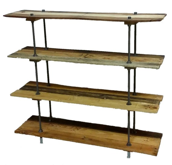 Items Similar To Vintage Reclaimed Wood Pallet 5 Shelf Bookcase Or Bookshelf Industrial Style