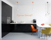 Espresso Yourself Wall Decal / Kitchen Decoration / Coffee Wall Sticker