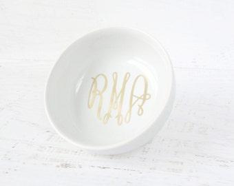 Monogram Ring Dish - Personalized Jewelry Dish - Monogram Jewelry Dish - Personalized Ring Dish - Personalized Gift - Monogram Ring Holder