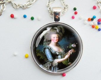 Marie Antoinette Pendant - Necklace - Princess jewelry - choose necklace or key chain