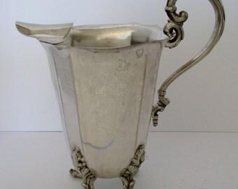 Ornate Silver Plate Pitcher