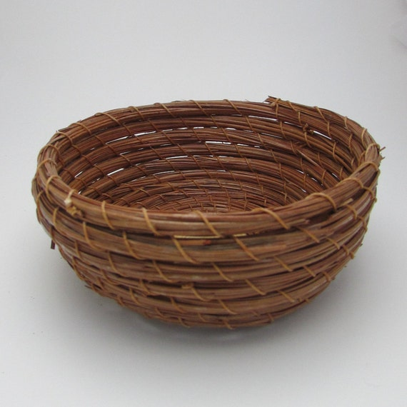 Handmade Pine Needle Baskets : Pine needle basket center handmade