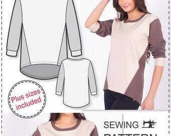 Sweatshirt Pattern - Sewing Patterns - Plus Size Patterns - Sewing Tutorials - Womens Sewing Patterns - Sweatshirt Sewing Pattern - Sew Easy