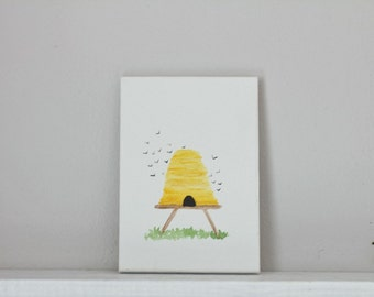 Bee Hive painting on canvas