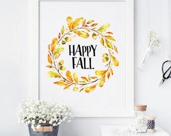 Fall Wall Art pumpkin spice fall wall art fall print printable fall decor
