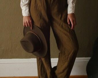 Olive Green Linen Trouser!