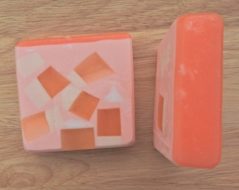 SOAP Pretty in Peach/ Handmade Soap/ Coconut Milk Soap/ Glycerin Soap