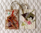 Gift Tags, Fiber Art, CLEARANCE,  Decorative Tags, Gift Wrap Tags, Collage Art Tags, Designer Gift Tags