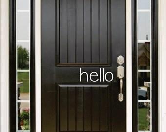 Hello door Decal   Front Door Decor   Front Door Sign   Front Door Decorations
