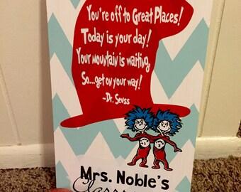 Personalized dr. Seuss teacher gift