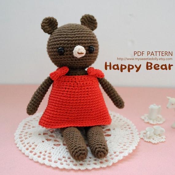 Amigurumi Pattern Generator : PDF PATTERN Happy Bear amigurumi pdf pattern by MySweetieDolly