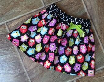 Owl Skirt, Girls Back to School Skirt, Baby Girl Owl Skirt, Woodland Owl Skirt, Girls Fall Skirt, School Skirt, School Outfit, Handmade