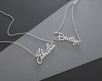30% OFF -- Dainty Name Necklace - Personalized Name Necklace - Custom Name Necklace - Personalized Jewelry - Bridesmaid Gifts - Wedding Gift