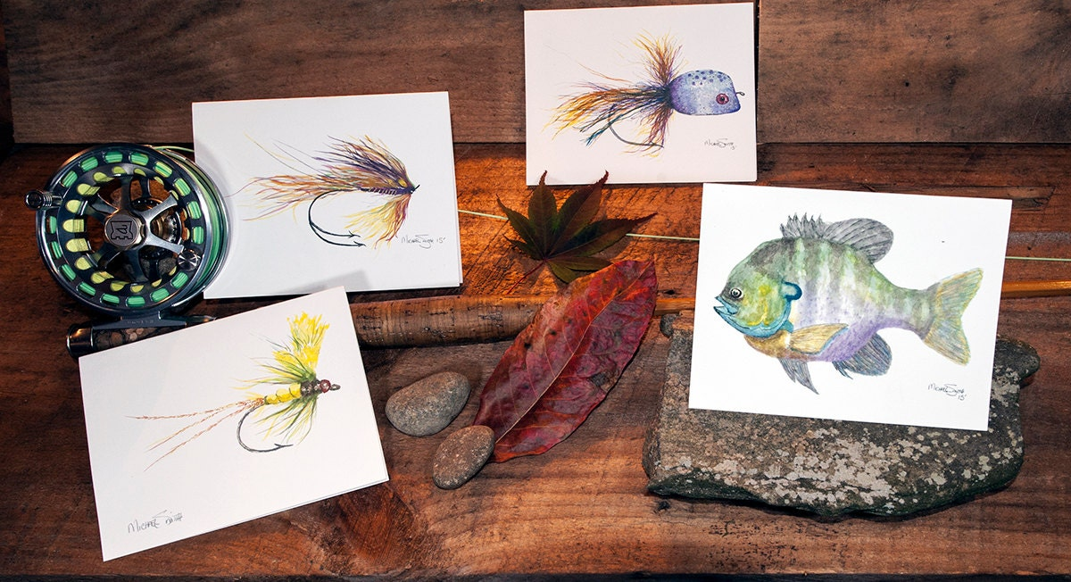 Fly fishing cards fly fishing gifts fishing art fishing for Fly fishing gifts