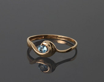 Topaz ring, Blue stone ring, Blue topaz ring, Topaz ring gold, Gemstone ring, Birthstone ring, December birthstone