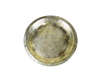 Table Talk Pie Tin ~ Mother's Only Rival ~ New England Pie Tin ~ 15 Hole Pie Tin