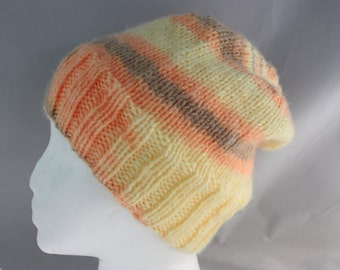hats, women's hats, woman's hat, multicolor hats, hand knit hats, knit hats, stretchy hats