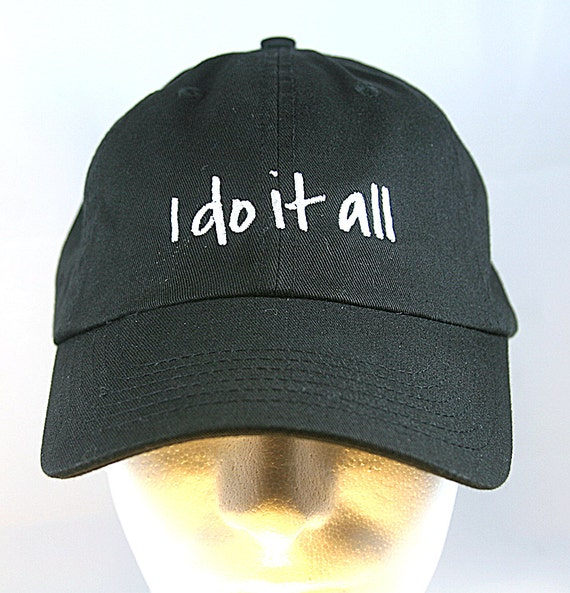 I Do It All (Polo Style Ball Black with White Stitching)