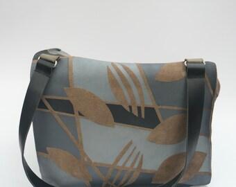 Dutch design handprinted up-cycle hand-shoulderbag