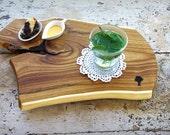 Tea Time Platter - Golden Rain Wood - Serving Plank - Serving Board - Centerpiece - Sushi Plate - Eco Style