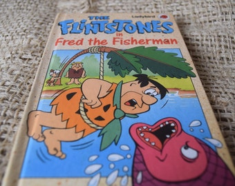 Ladybird Book. The Flintstones in Fred the Fisherman. Series 8914. Hanna Barbera. First Edition.