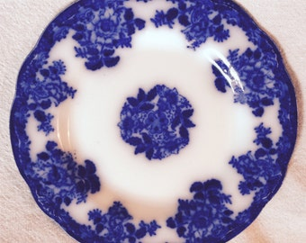 Flow Blue plate 9 inches