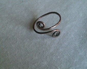 wire ring , copper ring , handmade ring, handmade jewelry