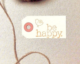MANILA Gift Tags | 100 SMALL Blank Hang Tag | Natural Cream Party Favor Labels + Jute Twine String OPTIONAL