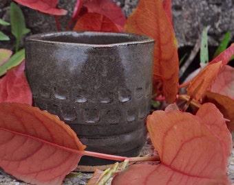 Square lip Hand-made ceramic cup