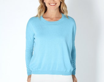 SALE Summer cotton cashmere lightweight knitwear