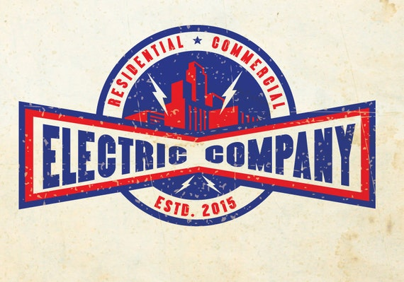 Custom Logo Vintage Electrician Electrical