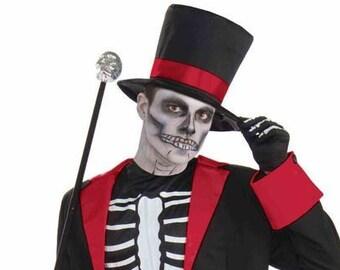 Adult Mr. Bone Jangles Costume/ Adult Skeleton Costume/ Adult Day of the Dead Costume/ Dia de los Muertos Costume/ Skeleton Bones Costume