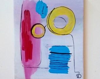 Modern Absract Painting - canvas art, modern art, abstract wall art, abstract, pink wall art, abstract wall decor, modern wall decor