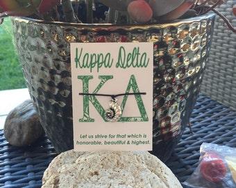 Kappa Delta Nautilus Shell Wish Bracelet~ Kappa Delta Sorority~ College Life~ Go Greek~ Big Sis Lil Sis Reveal~ Rush Week~ Party Favor