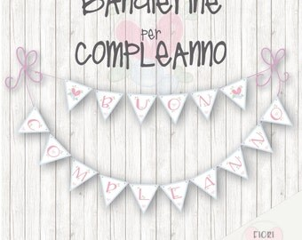 HAPPY BIRTHDAY Child be printed flags-bunting happy birthday girl DOWNLOAD