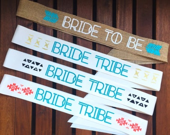 Boho Bride & Bride Tribe Sashes