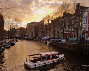 Amsterdam Photography - Holland - Netherlands - Amsterdam Canals - Home Decor - Photo 11x17