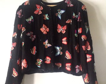 80s Fancy Butterfly Jacket Top