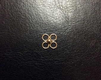 14K Gold Filled 4-Rings with 3mm Ball Component, 9x9mm