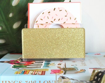 Letter Sorter-Acrylic-Glitter-Gold-Desk Accessories-Made in USA