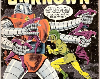 Challengers of the Unknown 12, Vintage Outer Space comic book, sci-fi, Astronauts. 1960 DC Comics in FN (6.0)